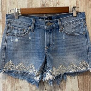 Lucky Brand The Cut Off Shorts 00 24 Embroidered